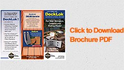 decklok deck brackets brochure