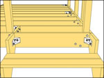 stair stringers connections with decklok deck brackets