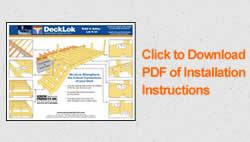 decklok deck brackets installation sheet